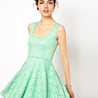 Oh My Love Skater Dress in Lace at asos.com