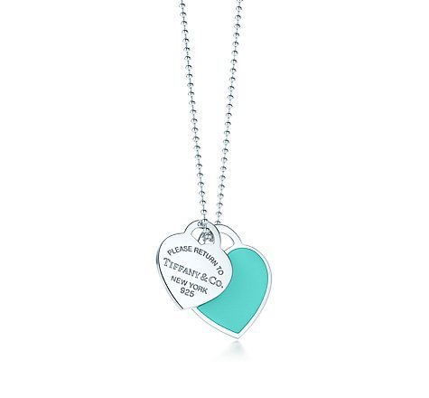 Tiffany & Co. | Item | Return to Tiffanyâ?¢ large double heart tag pendant in silver with enamel finish. | United States