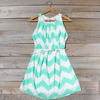Shaded Mint Dress, Sweet Women's Summer & Party Dresses