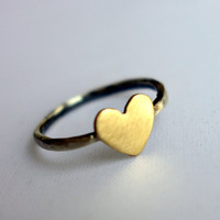Midi Heart Ring  Digit ring  Second by RachelPfefferDesigns