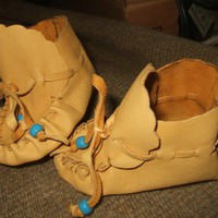 Handmade Deerskin Baby Moccasins ORDER ONLY | Wooleycreek - Leather Craft on ArtFire