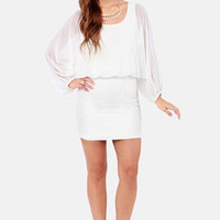 Glide Into the Sunset Ivory Lace Dress