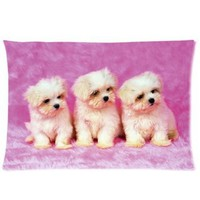 "Amazon.com: Cute Puppy Pillowcase Covers Standard Size 20""x30"" CC4390: Home & Kitchen"