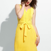 Tulle Canary Camilla Dress