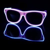 EL Wire Light Up Baby Pink and Aqua Sunglasses : LED Wire Glasses from RaveReady