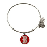 Alex and Ani Red Boston Red Sox™ Cap Logo Charm Bangle - Russian Silver
