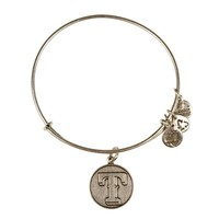 Alex and Ani Texas Rangers™ Cap Logo Charm Bangle - Russian Silver