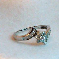 Star Shape Diamond Engagement Ring .50 carat, OOAK | MaggieMays - Jewelry on ArtFire