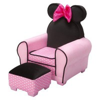 Disney Minnie Mouse Chair & Ottoman