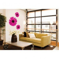 ADZif Foto Pink Gerbera Trio Wall Decal - F1107 - All Wall Art - Wall Art & Coverings - Decor
