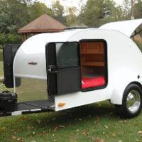 Little Guy Silver Shadow Teardrop Camper Trailer