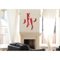ADZif Spot Rudolph Stocking Wall Decal - N0019 - All Wall Art - Wall Art & Coverings - Decor