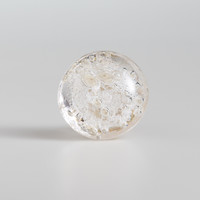 Clear Bubble Glass Knobs, Set of 2