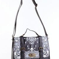 Skull Bandana Satchel Bag