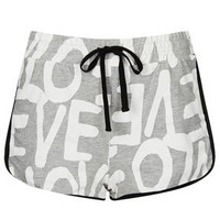 Love Print Runner Shorts - Shorts  - Clothing