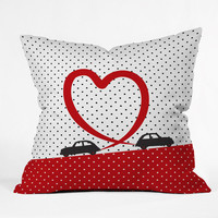 DENY Designs Home Accessories | Belle13 Polka Dot Car Love Throw Pillow