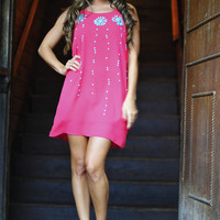 Studs And Sparkles Dress: Coral | Hope's
