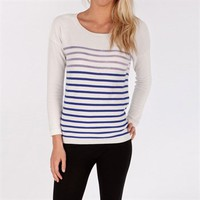 Maison Scotch Women's Contemporary Striped Sweater with Necklace at Von Maur
