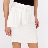 Sunday in Brooklyn Pencil Skirt with Asymmetrical Ruffle at Von Maur
