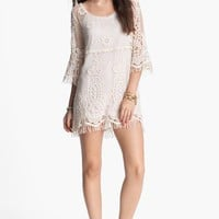 Mimi Chica Crochet Shift Dress (Juniors) | Nordstrom