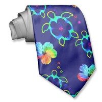 Honu Turtles and Tie Dyed Hibiscus from Zazzle.com