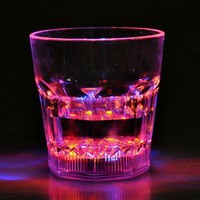 Water Activated Auto Color Changing LED Flash Light Whiskey Cup Glass