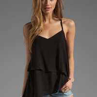 Ella Moss Stella Tiered Tank in Black from REVOLVEclothing.com