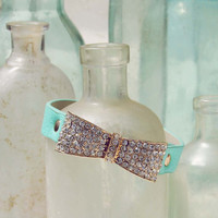 Nightingale Cuff Bracelet in Mint, Women's Sweet Bohemian Jewelry