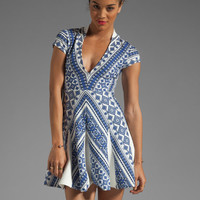 Pencey Deep V Dress in Blue from REVOLVEclothing.com