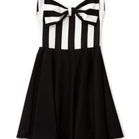 Scuba Knit Bow Dress Forever 21