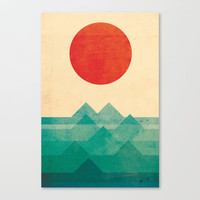 The ocean, the sea, the wave Stretched Canvas by Budi Satria Kwan