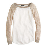 Linen baseball sweater