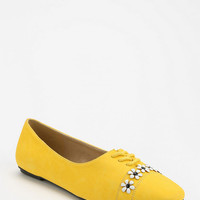 Urban Outfitters - Cooperative Flower Trim Lace-Up Skimmer