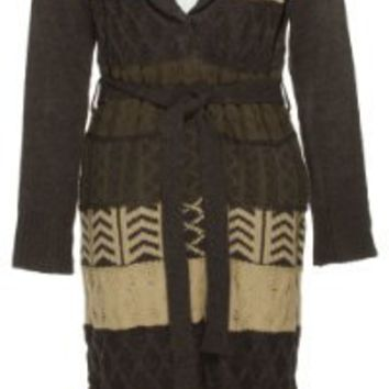 Amazon.com: ROMEO & JULIET COUTURE Multi-color Cable Knit Robe w/ Fringe [RJ26609]: Clothing