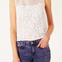 Organza Lace Shell Top - Tops  - Clothing
