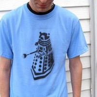 EXTERMINATE Dalek inspired Mens SHIRT your size by OpticThreads | PoppysWickedGarden - Clothing on ArtFire