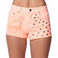 Studded Denim Cut Offs | FOREVER 21 - 2047092182