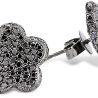 "Dana Rebecca Designs ""Rima Naya"" 14k Black Diamond Flower Earrings"