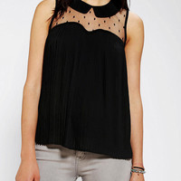 Urban Outfitters - Coincidence & Chance Mesh Dot Pleated Blouse