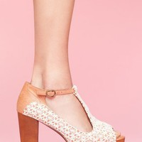 Foxy Platform - Ivory Crochet in Shoes at Nasty Gal