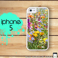 iPhone 5 Mighty Case -  2 Part Protective iPhone 5 Case Field of Flowers Wild Flowers