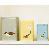 Set of 3 storage nesting tins (mixed)