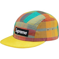 Supreme: Madras Camp Cap - Yellow