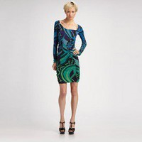 New Emilio Pucci Dress - Pucci Sleeve/Knee Dress