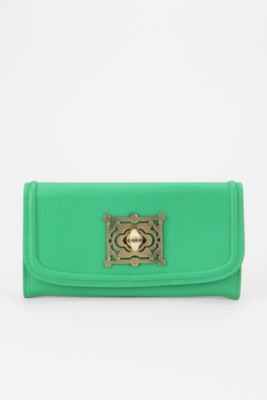 UrbanOutfitters.com &gt; Kimchi Blue Ornate Turnlock Checkbook Wallet
