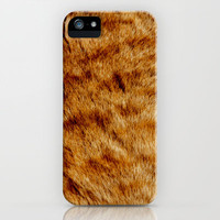 GINGER CAT TEXTURE iPhone & iPod Case by catspaws