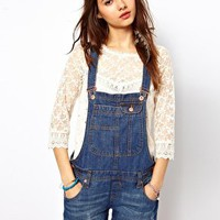River Island Denim Playsuit at asos.com