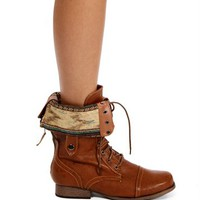 Pre-Order: Whisky Lace Up Back Zipper Combat Boots