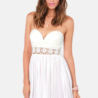 Seize the Dainty Lace White Dress