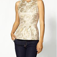 Pim + Larkin Brocade Peplum Top | Piperlime